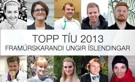 Topp tíu framúrskarandi ungir einstaklingar 2013